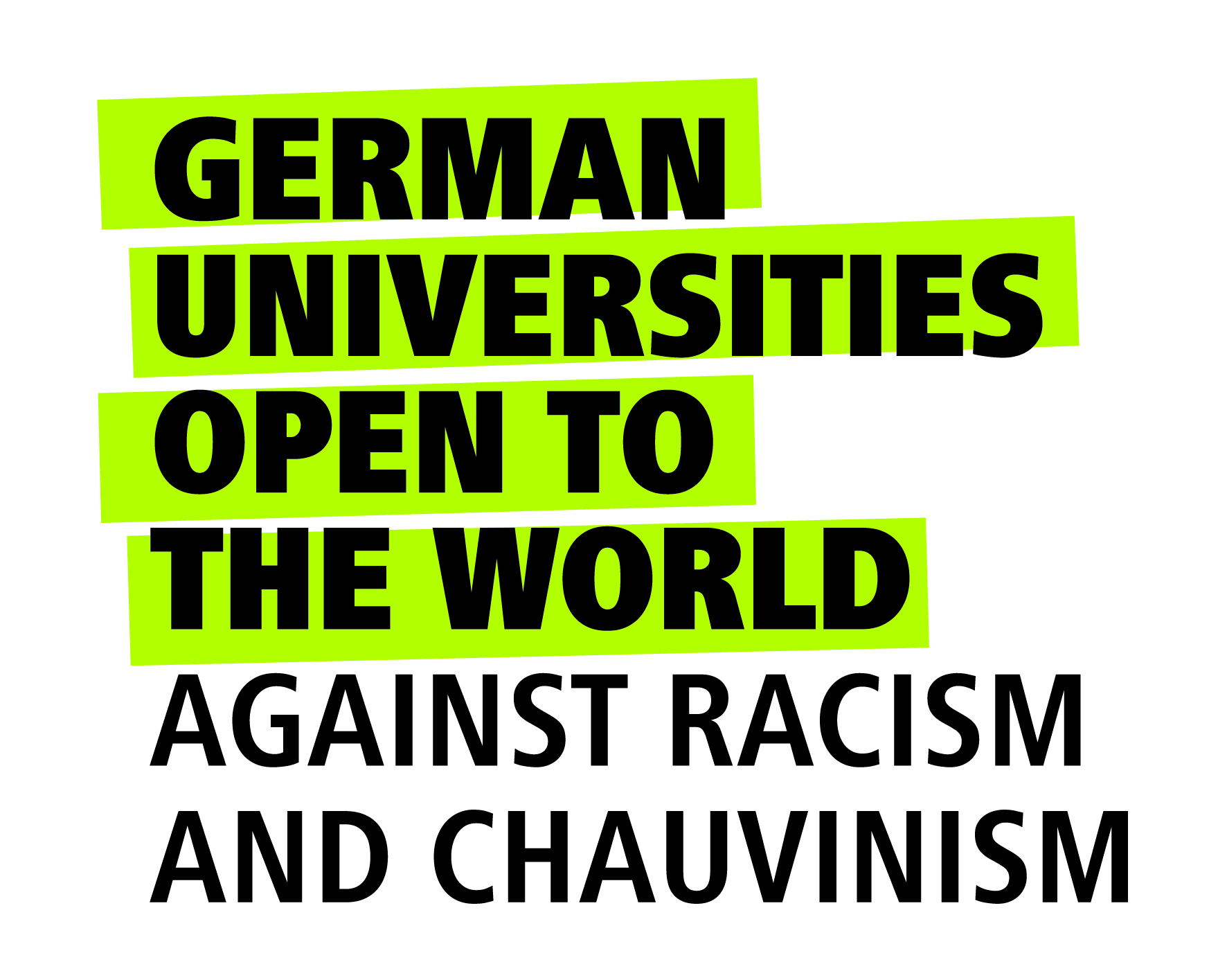 Logo: Universities for openness, tolerance and against xenophobia